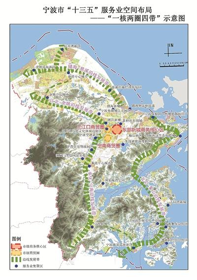 依托甬台温高速公路,甬台温铁路和规划中的市域轨道宁海线,形成奉化